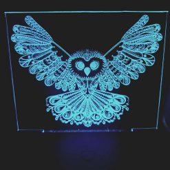 Owl acrylic night light