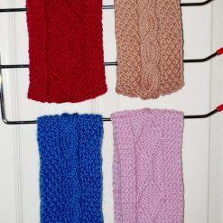 Hand-made knitted headbands