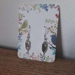 Beautiful paw print earrings