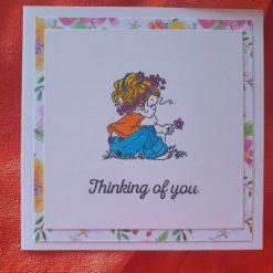Embossed sympathy card