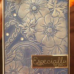 Embossed greeting card