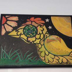 Original artwork (Crazy Bird). Acrylic on canvas 30cm x 40cm