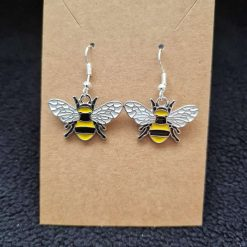Bee Earrings - Silver or Gold Tone