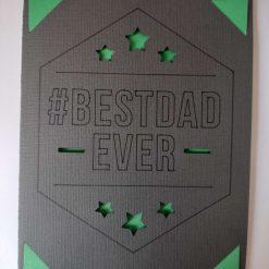 '#Best Dad Ever' card