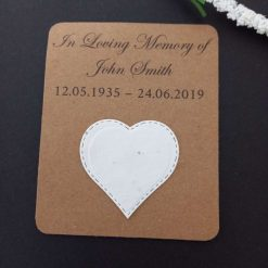 Memory keepsake Plantable Wildflower Heart (set of 10)