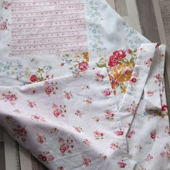 Apron. Handmade in an afternoon tea print. Lined in deep pink stripes.