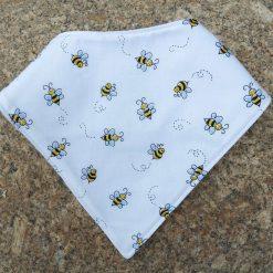 Baby Bandana Bib with Bee Design