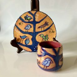 Ceramic Bird Plate and Mug