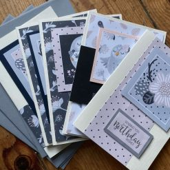 Hand made birthday cards set of 5 / free P&P