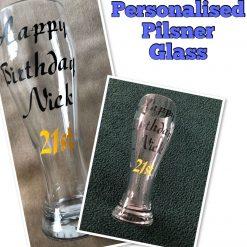 Personalised Pilsner Glass