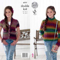King Cole - Knitting Pattern - Kid's Sweater & Waistcoat