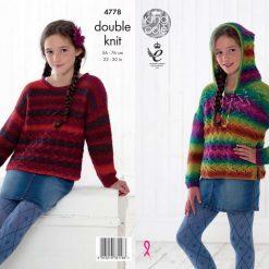 King Cole - Knitting Pattern - Kid's Hoodie & Sweater