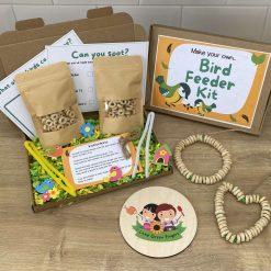 Bird Feeder Kit, children's craft, DIY bird feeder kit with seeds, outdoor activity box, kids DIY bird house, Children's craft
