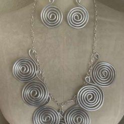 Big, Bold, Beautiful Twisted Wire Designer Necklace Set