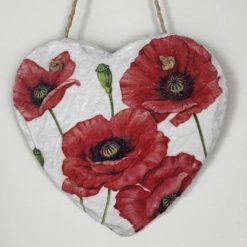 Poppy slate heart
