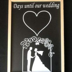 Wedding countdown chalk board