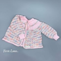 ** SOLD ** Beautiful Hand Knitted Baby Girls Matinee Jacket