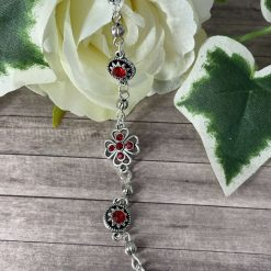 Tibetan bracelet with red gems
