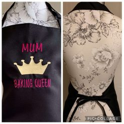 Personalised Embroidered Queen Of Clean Apron