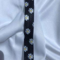 Daisy Flower Fold Over Elastic 15mm