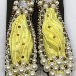 A240 Shibori yellow Earrings