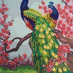 Beautiful Peacocks with Cherry Blossoms