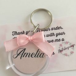 Personalised name keyrings with bows