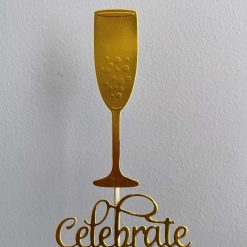 Large Champagne Flute Cake Topper