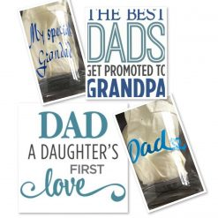 Personalised whiskey Glass & Card - Fathers Day
