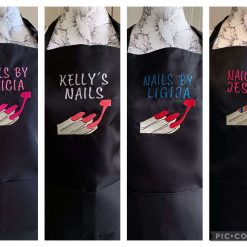 Personalised Embroidered Nail Tech Apron