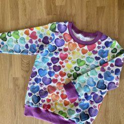 Rainbow Hearts Sweatshirt 2-3 Years