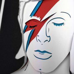 Bowie Aladdin Sane Layered Art