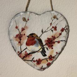 Robin slate heart