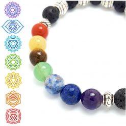 7 Chakras Bracelet | Reiki Gift Ideas | Spiritual Healing Yoga Chakra Bracelets | Birthday Christmas Mothers Mother's Day Valentine Anniversary Easter Jewellery | Charming Gifts