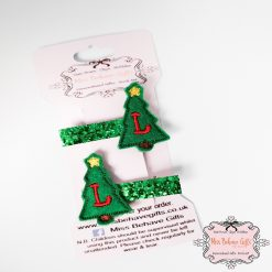 Personalised Christmas Tree Hair Clips