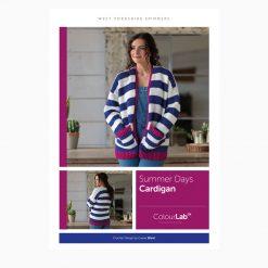 Crochet Kit - WYS Summer Days Cardigan using ColourLab DK - 100% British wool - high quality yarn
