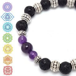 Crown Chakra Bracelet | Reiki Gift Ideas | Spiritual Healing Yoga Chakras Bracelets | Birthday Christmas Mothers Mother's Day Valentine Anniversary Easter Jewellery | Charming Gifts