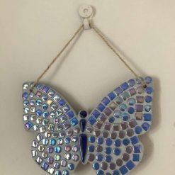 Beautiful mosaic hanging butterfly