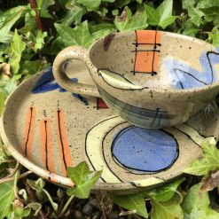 Abstract design brew and biccie set (Copy)