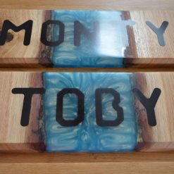 Wood and Resin House/Stable Signs