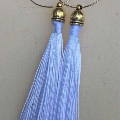 Tassel hoop bridal earrings