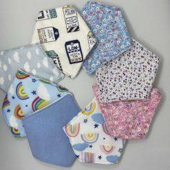Handmade baby dribble bandana bibs. Adjustable