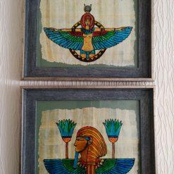 Glass art: Egyptian pharaoh picture set