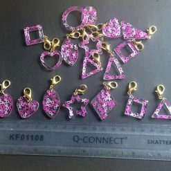 Breast Cancer Awareness Stitch Marker/Counter or Charm or Bag Fob