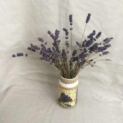 Lavender Jar. Decoupage Vase. Lavender Gift.