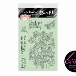 For The Love Of Stamps - Hunkydory - Forever Florals - Summer Splendour - Sweet Pea Posy - A6 Stamp Set