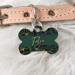 Personalised Dog Cat Pet ID Tag Double sided Abstract Dog Tag