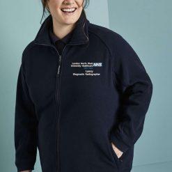 Embroidered Micro Fleece Jacket (Navy)