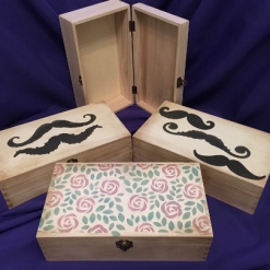 Decorated Wooden Gift Boxes