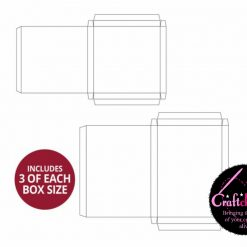 Hunkydory - Handmade Card Boxes - Deep Square and Rectangle Collection - 300gsm - 12 Pack